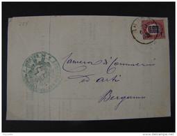 """227 ITALIA Regno-1878- """"Ondine"""" C. 2 Su 0.02 BRESCIA>BERGAMO (descrizione) - 1861-78 Vittorio Emanuele II"""