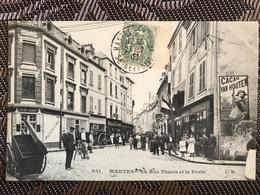 MANTES 78 - CM551 - Rue Thiers Et La POSTE - Mantes La Ville