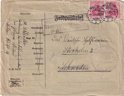 ALLEMAGNE 196 LETTRE EN FELDPOST DE TILSIT POUR STOCKHOLM - Occupation 1914-18