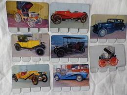 8 Plaquettes En Tôle - L'Auto à Travers Les âges - Editions COOP - N°19 23 25 31 52 79 98 100 - Plaques En Tôle (après 1960)