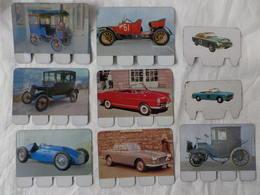 7 Plaquettes En Tôle - L'Auto à Travers Les âges - Editions COOP - N°21 22 30 32 40 97 99 + 2 CRIO - Plaques En Tôle (après 1960)