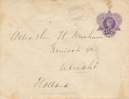 WELTEVREDEN - 1910 ,   12½  Auf  25  ,   Umschlag Nach DEN HELDER  - Gebrauchsspuren - Niederländisch-Indien