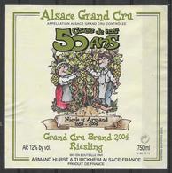 ALSACE - Riesling Grand Cru Brand 2004 - Cuvée De Nos 50 Ans - Armand Hurst - Turckheim - Paare