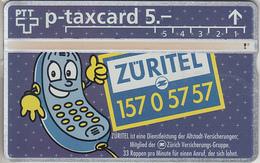 SUISSE - PHONE CARD - TAXCARD-PRIVÉE ***  ASSURANCES 2 *** - Schweiz