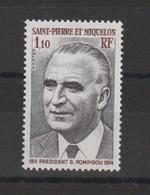 Saint Pierre Et Miquelon 1976 G Pompidou 448 1 Val ** MNH - Ungebraucht