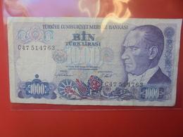TURQUIE 1000 LIRA 1970(86)CIRCULER - Turchia