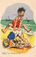 Germaine Bouret, Enfants à La Plage. - Bouret, Germaine