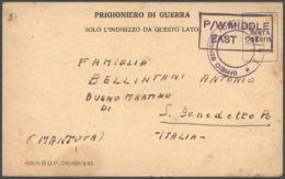 1942 CARTOLINA FRANCHIGIA Prigioniero Guerra Italiano POW Camp 309 In Egitto - 1900-44 Vittorio Emanuele III