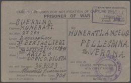 1943 CARTOLINA FRANCHIGIA Prigioniero Guerra Italiano POW Camp 308 In Egitto - 1900-44 Vittorio Emanuele III