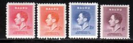 Nauru 1937 Yvert 33 / 36 ** TB - Nauru