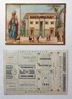 CHROMO BORDS DORES ......EXPOSITION UNIVERSELLE DE 1889.........MAISON EGYPTIENNE - Trade Cards