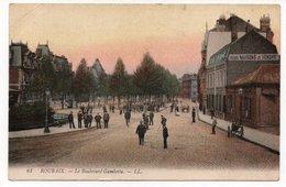AK  Roubaix  -  Le Boulevard Gambetta, 1918 - Frankrijk