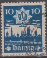 Deutschland: Danzig 1937 Danziger Luftschutz (DLB), 10 Pf Schwärzlichkobalt, Mi 267 Gestempelt - Gebraucht