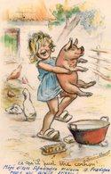 Germaine Bouret, Enfant Avec Cochon. - Bouret, Germaine