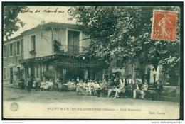 CPA 34 Saint Martin De Londres Café Bouvier - France