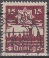 Deutschland: Danzig 1937 Danziger Luftschutz (DLB), 15 Pf Dunkelbraunkarmin, Mi 268 Gestempelt - Gebraucht