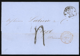 SWITZERLAND. 1862. Geneve. EL. Superb Condition. XF. - Switzerland