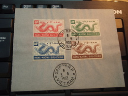 4 Timbres Vietnam  HANG-KHONG BUU-CHINH  1952 SAÏGON - Vietnam