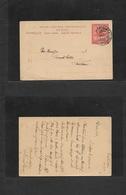 SUDAN. 1911 (6 Dec) Port Sudan - Khartoun. 4ms Red Stat Card. Fine, Descriptive Long Text.. Deal - Sudan (1954-...)