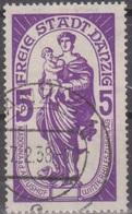 Deutschland: Danzig 1937 Winterhilfswerk, Madonna Artushof, 5+5 Pf Dunkelviolett, Mi 276 Gestempelt - Christianisme
