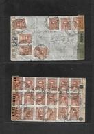 Argentina - XX. 1945 (31 Enero) Mar De Ajó - Brazil, Santo Proceres Issue. Multifkd Front And Reverse Envelope, Dual Cen - Ohne Zuordnung