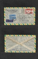 Brazil - XX. 1958 (17 Nov) Santo Andre, SP - Switzerland, Zurich. Air Fkd Envelope + Taxed + Arrival Swiss Stamp 40c Tie - Brasilien