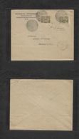 TURKEY. 1915 (23 Oct) Dedeagatch - Soufli. Ovptd Issue Multifkd Comercial Envelope Negative Seal Striky Cachet + French - Turchia