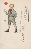 CARTOLINA - ILLUSTRATORE-ILLUSTATEUR - VAN DOCK - VIAGGIATA 1901 - Zonder Classificatie