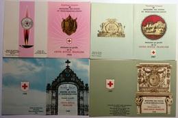 FRANCE Lot 4 Carnets Booklet Heftchen FDC Premier Jour Croix-Rouge 1966 à 1969 [GR] - FDC