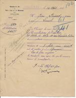 1914 - LETTRE De La MOBILISATION CHEMINS De FER PLM à MONTPELLIER (HERAULT) => LUNEL - MARCHANDISES STOPPEES à QUISSAC ! - Marcophilie (Lettres)