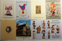 FRANCE Lot 5 Carnets Booklet Heftchen FDC Premier Jour Croix-Rouge 1974 à 1978 [GR] - FDC