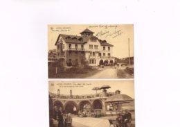 Coq Sur Mer Hotel Atlanta Nels Ern Thill Bruxelles. Lot De 2 Cartes Postales Anciennes 1933. - De Haan
