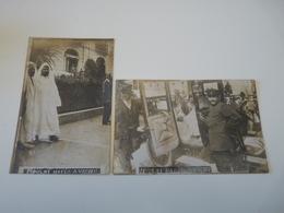 LOT 2 CARTES PHOTOS ANCIENNES VICHY ALLIER MOULAI HAFID SHAH DE PERSE 1912 - Vichy