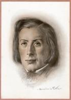 Portrait De Frédéric CHOPIN Par Bernardino De Pantorba - Celebrità