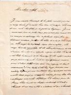 1840 - Alfred De LES CAUPENNE - Lettre D'enfant à Mes Chers Oncles - - Historical Documents