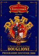 Cirque D'Hiver BOUGLIONE  PROGRAMME SOUVENIR 2000. NEUF Superbe état, Luxe. - Programmi