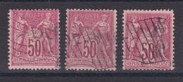 D106/ LOT SAGE N° 98  CACHET DRAPEAU - 1876-1898 Sage (Type II)