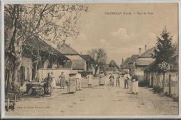 CPA - 39 -Jura - Chamblay - Rue Principale -très Animée - Voir état - Altri Comuni