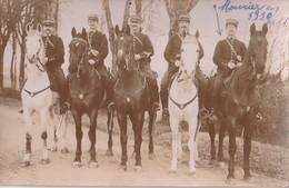 MONTMOREAU  -  Carte Photo De La Brigade De Gendarmerie à Cheval En 1911. - Sonstige Gemeinden