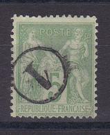 D106/ LOT SAGE N° 102 CACHET JOUR DE L AN - 1898-1900 Sage (Type III)