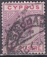 CYPRUS 1922-1923 King George V 1 Piastre Lilac / Red WM CA Caligraphic Vl. 83 - Cyprus (...-1960)