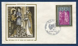 Andorre - Premier Jour - FDC - Retable De Saint Jean De Caselles - 1972 - FDC