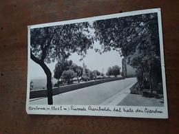 Cartolina Postale D'epoca, Cortona, Piazzale Garibaldi Dal Viale Dei Giardini - Arezzo