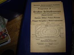 Cyclisme Allemagne - PROGRAMME 1924 GRANDE REUNION CYCLISTE Rennbahn Barbarossapark Eselsfürth Kaiserslautern  RARE ! - Ciclismo