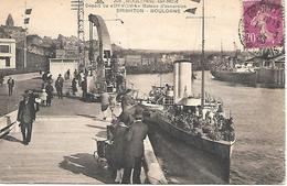 """12/26     62   Boulogne Sur Mer   Départ Du """"devonia""""  Bateau D'excursion  Brighton-boulogne   (animations) - Boulogne Sur Mer"""