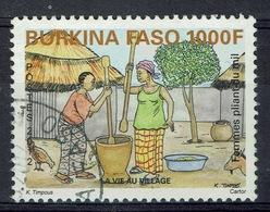 Burkina Faso, 1000f., Women Daily Life, Pounding Millet, 2012, VFU - Burkina Faso (1984-...)