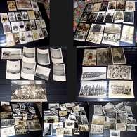 BON LOT 138 PHOTOS MILITARIA GUERRE SOLDAT POILU OFFICIER REGIMENT AVION CHAR 1890/1955 - War, Military