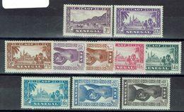 Sénégal - N°160/169 - X - Traces Propres - TB - - Sénégal (1887-1944)