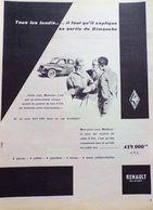 Publicite De Presse Ancienne RENAULT 4CV 1958 - Publicidad