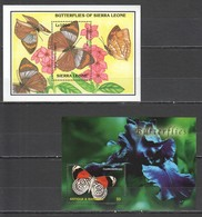 E1743 ANTIGUA & BARBUDA SIERRA LEONE FAUNA INSECTS BUTTERFLIES 2BL MNH - Butterflies